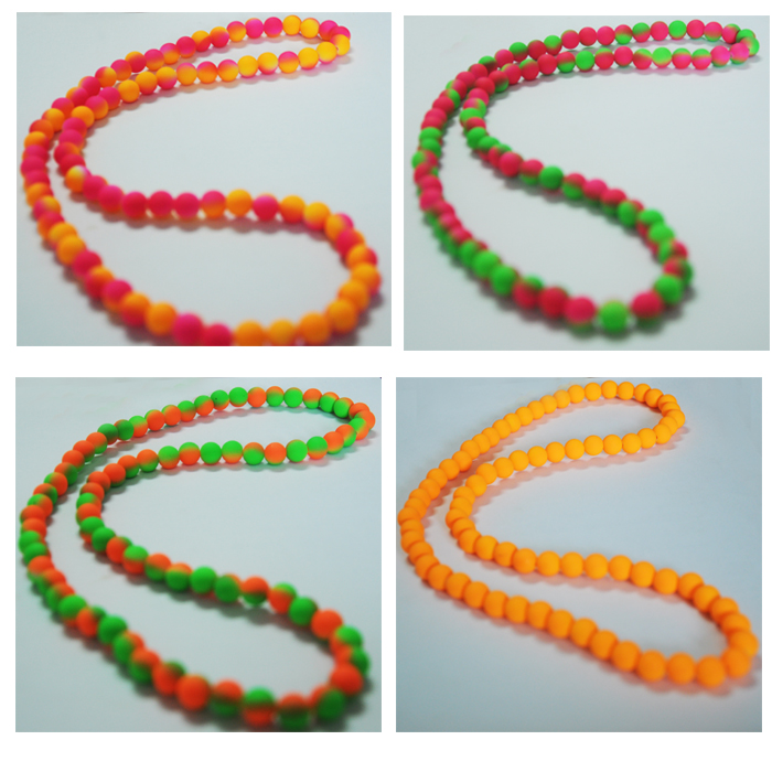 Latest Orange Bead Necklace Designs