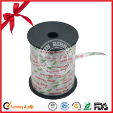 Gift Packaging PP Logo Printed Ribbon Roll