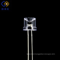 Fashionable Design Through hole 8mm water clear red concave led dip diode