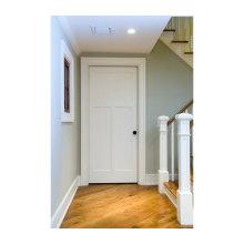 Diseños de puerta principal de madera blancos simples de alta calidad del precio bajo de la alta calidad
