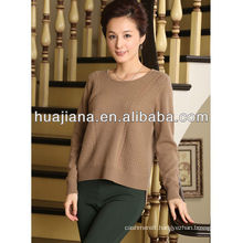 fashion crewneck women's blended pashmina sweater