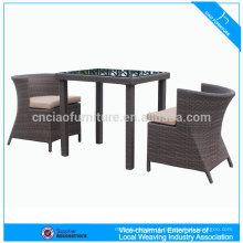móveis de vime ao ar livre mesa de jantar e cadeira (CF1203)