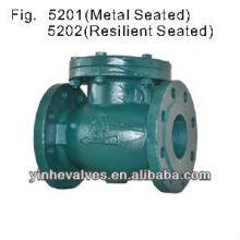 DIN Tipo de brida estándar Válvula de retención oscilante