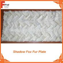 Preço razoável Fox Fox frente perna Fox Fur Plate