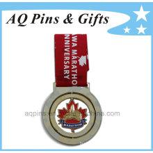 Marathon Medal with Printed Ribbon