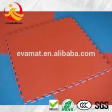 Durable y suave deporte interior gimnasio esteras de piso con 2 colores