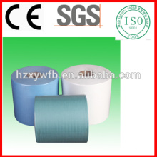 Papel higiénico industrial no tejido libre de la pelusa de Spunlace que limpia el papel