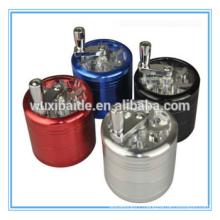 hand type herb gridner 4 pieces cnc process aluminum herb grinder