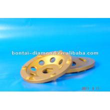 100mm PCD abrasivo taza de ruedas para la molienda de pegamento