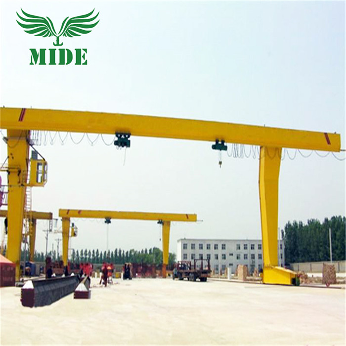 Single beam gantry crane with hoist
