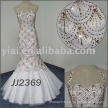 JJ2369 Full Beading Fish forma vestido de noiva de sereia querida