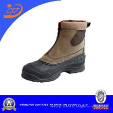 Moda couro inverno neve sapatos