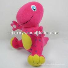 novidade pequeno bonito recheado dinossauro vermelho brinquedo de pelúcia