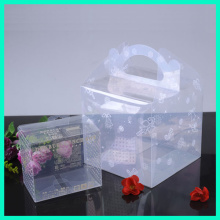 New style custom plastic food container eco-friendly disposable feature PET material clear plastic cupcake box with handle