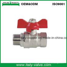 Italycopper produce 8 años de garantía Válvula de bola de mariposa macho (AV1037)