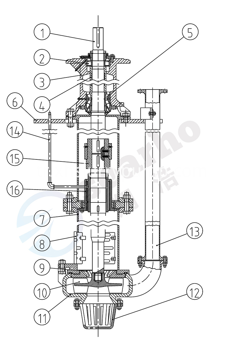 Lengthening Sump Slurry Pump