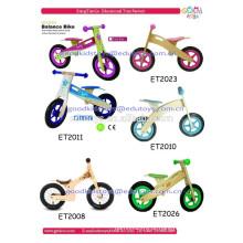 Criança brinquedos baratos bicicleta de madeira