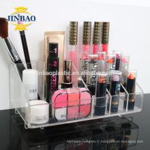 Jinbao acrylique maquillage organisateur de stand en gros 3mm 5mm