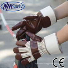 NMSAFETY 2014 Nitrile impregnated gloves cheap work glove