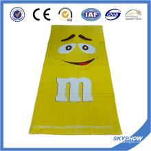 Serviette pleine de velours de coton imprimé (SST0520)