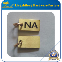 Soft Enamel Customized Metal Tag with Ring