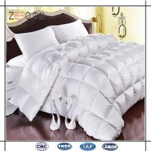 Ganso de alta calidad para llenar el edredón de lujo suave estupendo del hotel interno para la cama del rey