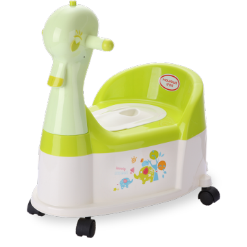 Duck Plastic Baby Potty Stol med hjul