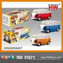 High Quality plástico 3D Electric Toy escola ônibus com luz e música