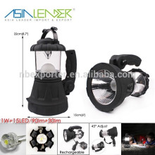7 Hours Continuous Lighting ABS 1W and 15LED Handheld Spotlight