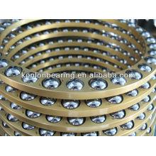 2014 Rolamentos de esferas de empurrão da fileira dobro da venda quente com tipos terminados do rolamento de esferas