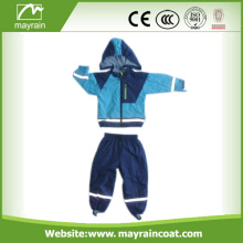 PU 어린이 Blue Rainsuits