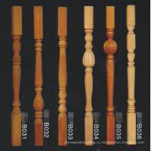 антикварные дешевые деревянные ремесленные балюстрады лестница столба сильный столб