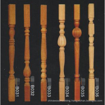 antique cheap wood handicraft balustrade stair pillar strong post