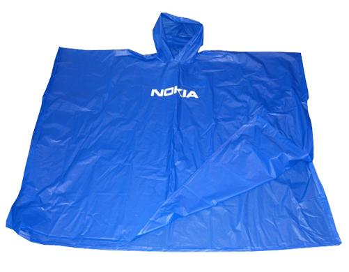 Blue Waterproof pvc Poncho