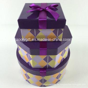 Kundenspezifische bedruckte achteckige quadratische runde gemischte Papier Geschenkboxen Set