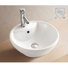 Bathroom Oval Round Shape Art Ceramic Porcelain Hand Wash Sink Basin
