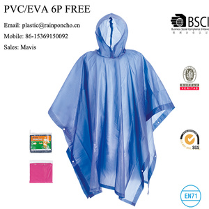 eco-friendly pvc peva rain poncho