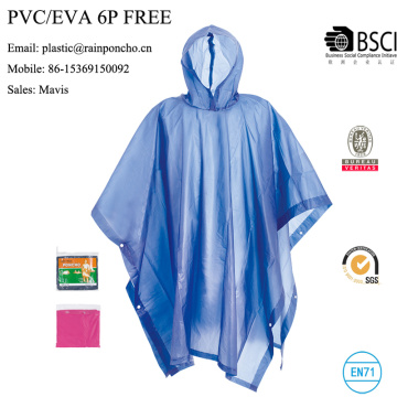 poncho de chuva de pvc pevc eco-friendly