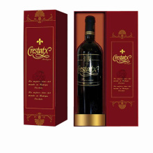 Embossing Paper Red Wine Packaging Gift Box