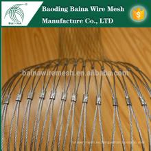 Malla de cable de acero inoxidable tejida a mano