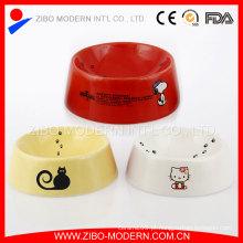 Lovely cerâmica pet tigelas, tigelas de cerâmica do cão, tigela de cerâmica do gato