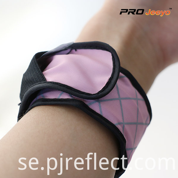 LED Light Nigh Vision Oxford Fabric Pink Plaid ArmbandWB-GW001