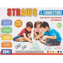 284PCS Straws and Connectors Three-Dimensional Block