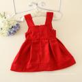 Princesa vestido de algodão pinafore crianças roupas de nylon para 1Y cutie roupas para pequenas meninas do bebê grande flor vestidos appliqued
