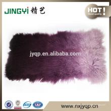Venta al por mayor Placas de piel de cordero de Mongolia tibetanas puras (BLANQUEADAS)