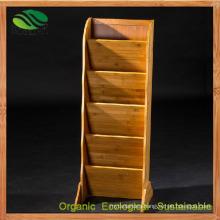 Customize Multi-Layer Bamboo Magazine/Newspaper Holder