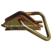 Series E/a Spring Fitting W/Pear Ring, Steel Fitting, Logistic Track Fitting