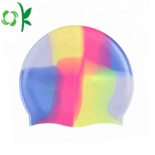 Custom Logo Silicone Professional Swim Caps for Men