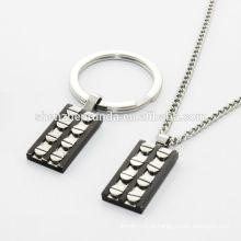 Pequena jóia forma gato fazer conjuntos, jóias de aço inoxidável on-line