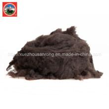 Combinaison / laine de yak brun cardé / tissu de cachemire / textile / matière première gaspillée